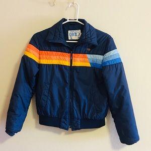 Vintage 70's op rainbow snow jacket